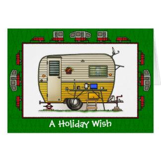 Aloha souhait de vacances de campeur de remorque carte de vœux