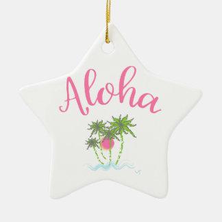 Aloha style hawaïen Summera de plages Ornement Étoile En Céramique