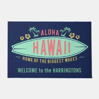 Aloha tapis de porte nommé fait sur commande de