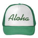 Aloha vert de chapeau casquettes de camionneur