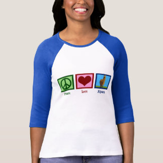 Alpaga d'amour de paix t-shirt