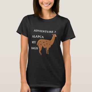 Alpaga d'aventure ma chemise de vacances de sacs t-shirt