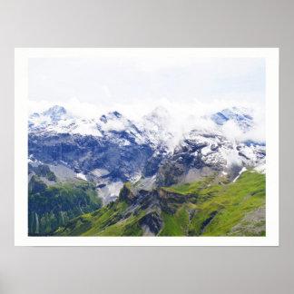 Alpes suisses impressionnantes poster