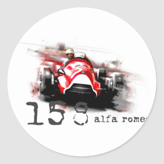 Alpha 158 sticker rond