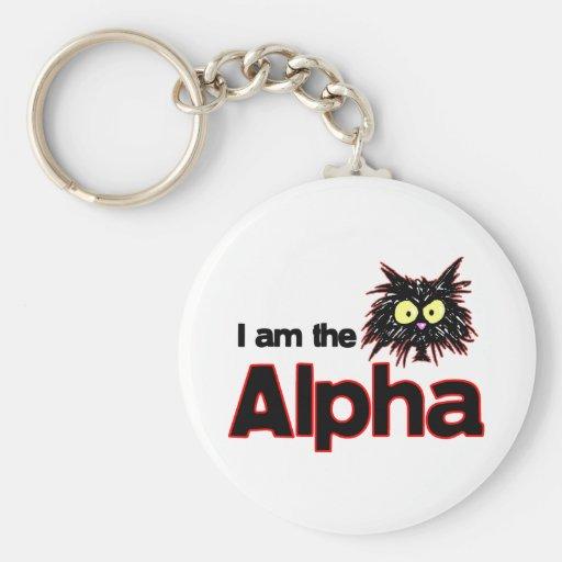 Alpha chat porte-clef