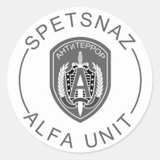 Alpha de Spetsnaz Autocollants Ronds