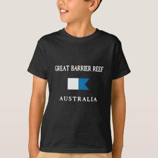 Alpha drapeau de piqué de la Grande barrière de T-shirt