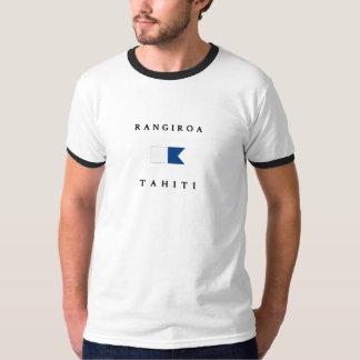 Alpha drapeau de piqué de Rangiroa Tahiti T-shirt