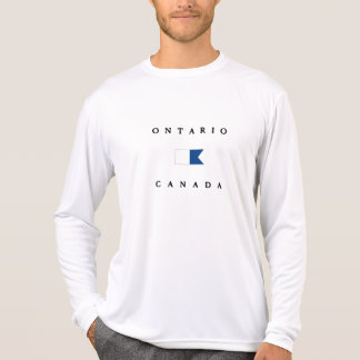 Alpha drapeau de piqué d'Ontario Canada T-shirt