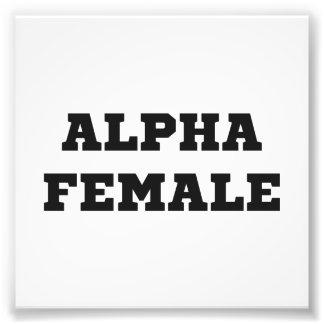 Alpha femelle impression photographique