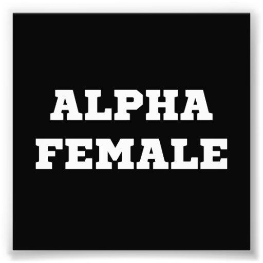 Alpha femelle photo d'art