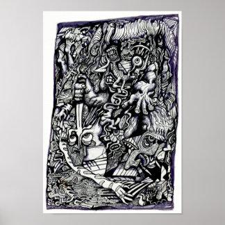 Alpha guerrier, par Brian Benson Poster