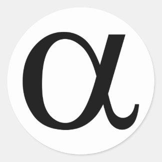 alpha icône a adhésifs ronds