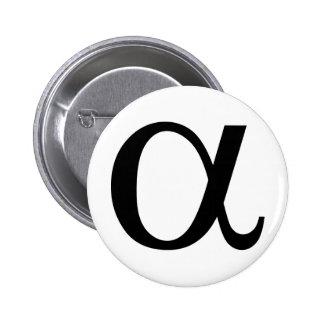 alpha icône a badge rond 5 cm