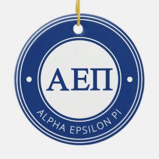 Alpha insigne de l'epsilon pi   ornement rond en céramique