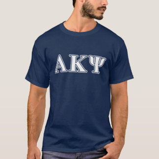 Alpha Kappa lettres blanches et jaunes de livre T-shirt