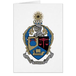Alpha Kappa livre par pouce carré - manteau des Cartes De Vœux