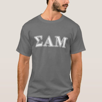 Alpha lettres blanches et pourpres de MU de sigma T-shirt