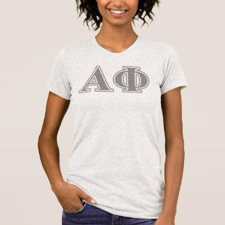 Alpha lettres d'argent de phi t-shirt