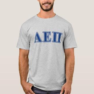 Alpha lettres de bleu de l'epsilon pi t-shirt
