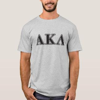 Alpha lettres de pourpre du Kappa lambda T-shirt