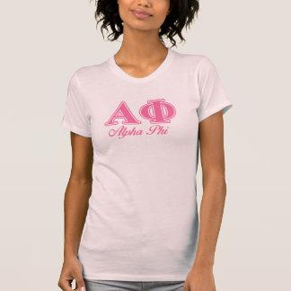 Alpha lettres de rose de phi t-shirt