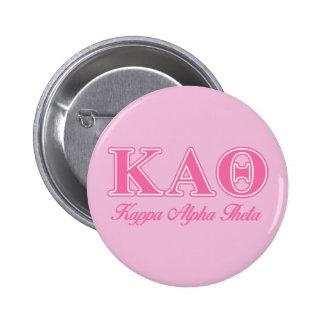 Alpha lettres de rose de thêta de Kappa Pin's