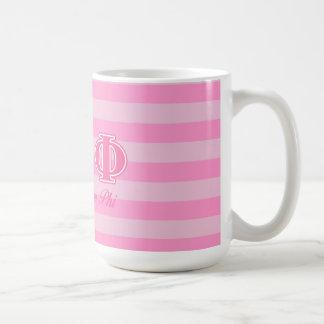 Alpha lettres epsilon de rose de phi mug