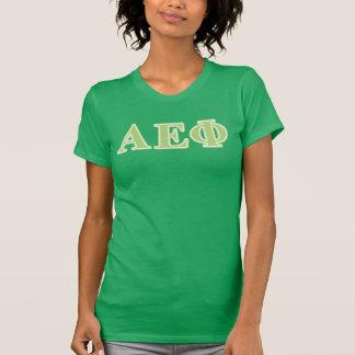 Alpha lettres epsilon de vert de phi t-shirt