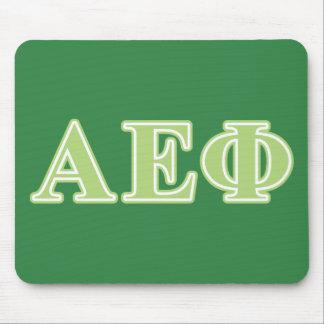Alpha lettres epsilon de vert de phi tapis de souris
