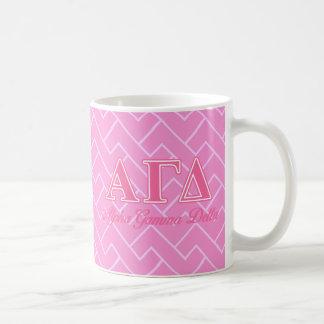Alpha lettres gamma de rose de delta mug