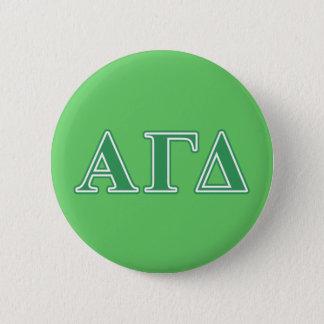 Alpha lettres gamma de vert de delta badges