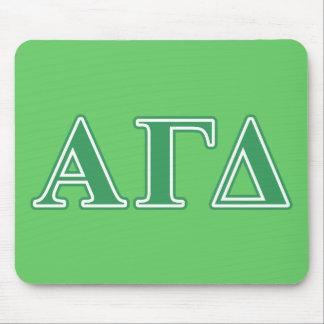 Alpha lettres gamma de vert de delta tapis de souris