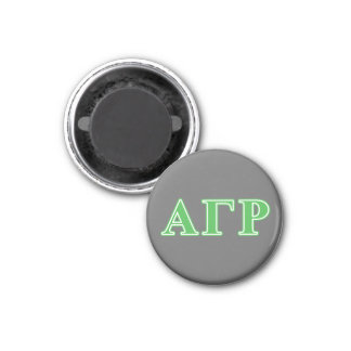 Alpha lettres gamma de vert de Rho Magnet Carré 2,50 Cm