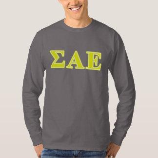 Alpha lettres jaunes epsilon de sigma t-shirt