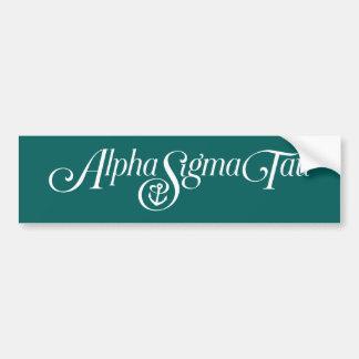 Alpha logo de Tau de sigma aucun Tagline 2 Autocollant De Voiture