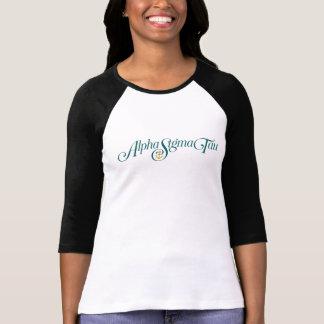 Alpha logo de Tau de sigma aucun Tagline T-shirt