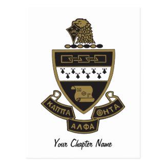 Alpha manteau de thêta de Kappa des bras : Couleur Cartes Postales