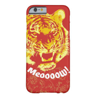 Alpha Meow de tigre - plan rapproché Coque Barely There iPhone 6