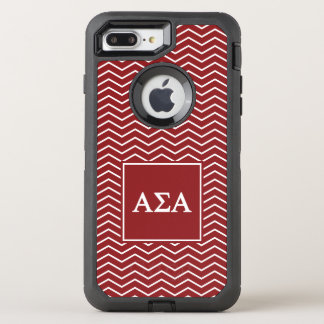 Alpha motif de l'alpha | Chevron de sigma Coque OtterBox Defender iPhone 8 Plus/7 Plus