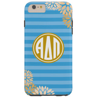 Alpha motif de rayure de monogramme du delta pi | coque tough iPhone 6 plus