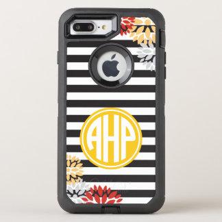 Alpha motif de rayure de monogramme du Rho | d'Eta Coque Otterbox Defender Pour iPhone 7 Plus