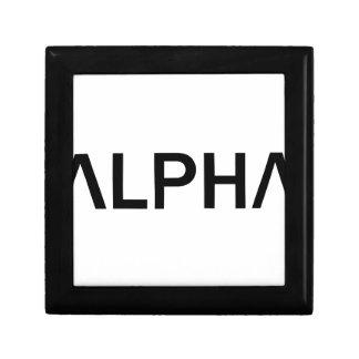Alpha (NOIR) Petite Boîte À Bijoux Carrée