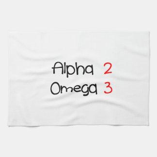 alpha omega serviette pour les mains