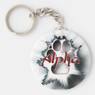 Alpha patte porte-clés