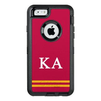 Alpha rayure de sport de l'ordre   de Kappa Coque OtterBox iPhone 6/6s