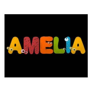 alphabet animal Amelia Carte Postale