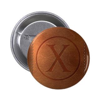 alphabet cuir lettre X Pin's