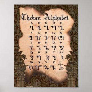 ALPHABET DE THEBAN POSTER