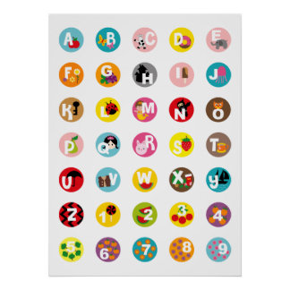 Alphabet et nombres affiche